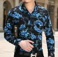2016 otoño camisa de manga larga de algodón casual de negocios de calidad superior para los hombres diseñador de la marca de lujo clásico camisas de vestir desgaste del partido
