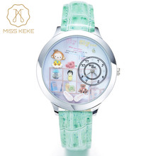 Monkey 2016 Miss Keke 3d Clay Cute Mini World Kids Watches Relogio Feminino Ladies Women Quartz Leather Wristwatches 8