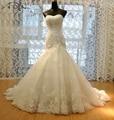 Por Encargo de la Sirena Del Cordón de Lujo Vestido de Novia 2017 Vestido de Novia Vestidos de Novia Del Corsé de la Blusa de Calidad Superior