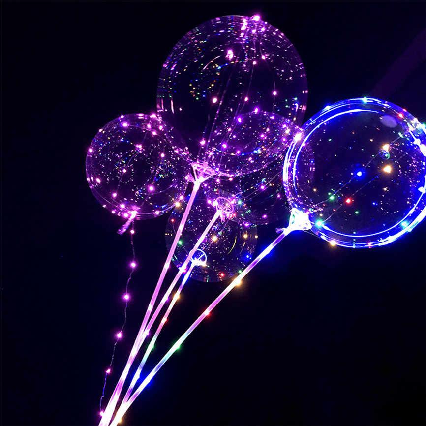 Многоразовый светсветодиодный ящийся светодиодный шар прозрачный Круглый пузырь украшение Lobos Cumpleanos infantilвечерние Вечеринка светодиодный Декор светодиодный шар свет J #2