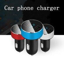 Common 12V-24V Automobile Charger Twin USB One Drag Two Cigarette Lighter Multi-function Cellular Cellphone Flat Panel Sensible Energy Socket