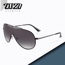 20/20 Brand Design Polarized Sunglasses Men Driving Square Metal Frame Men's Gla