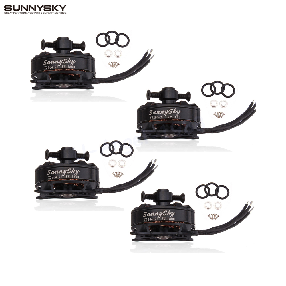 4set/lot Sunnysky X2204 KV1480 KV1800 rc Brushless Motor For RC helicopter Airplane Quadcopter m supernova xxd a2212 1000kv brushless motor for rc airplane quadcopter