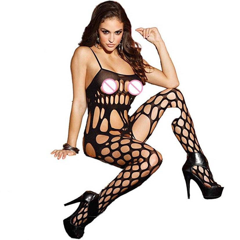 Fishnet Bodystocking SexyErotic Lingerie Bodysuit Encaje Costumes Body Suit Underwear Women For Sex Crotchless 119