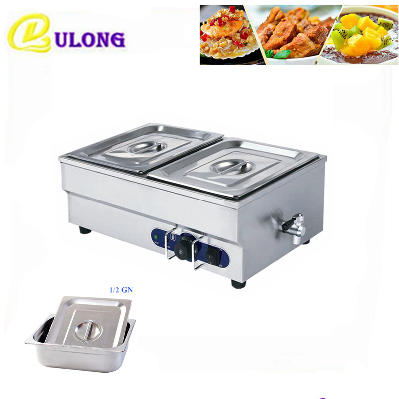 Electric Bain Marie for commercial kitchen mini automatic stainless steel buffet catering food warmer machine