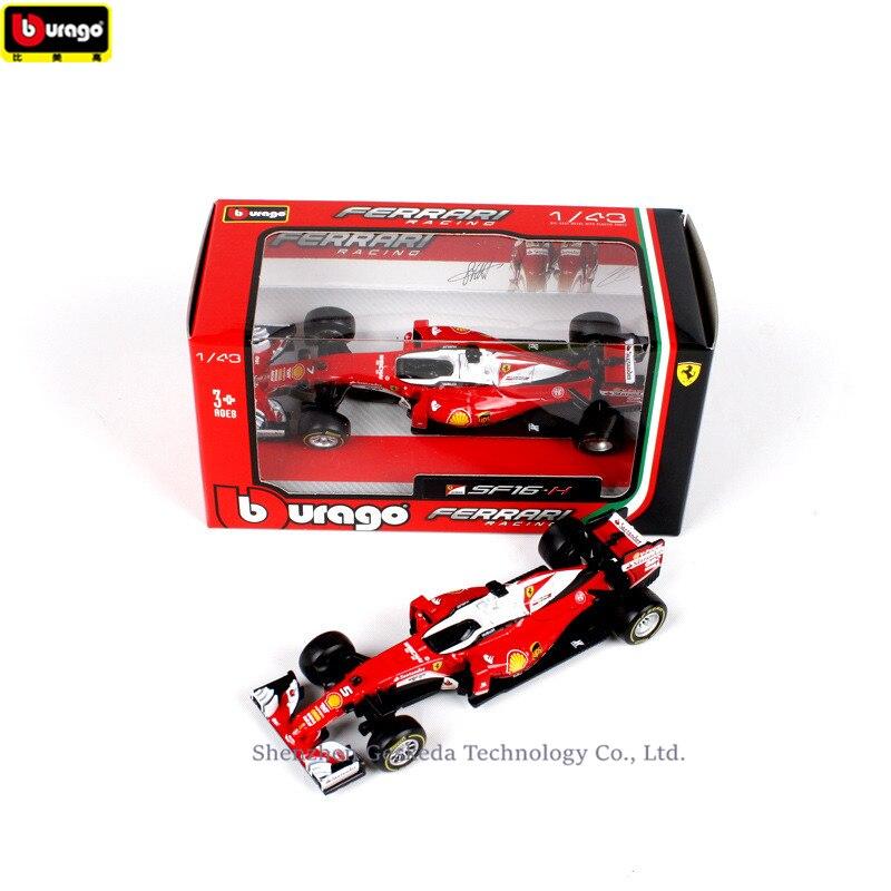 43 Bburago modelos coches con... SF14-T Kimi Raikkonen Ferrari Nº 7 2014 formula 1 1