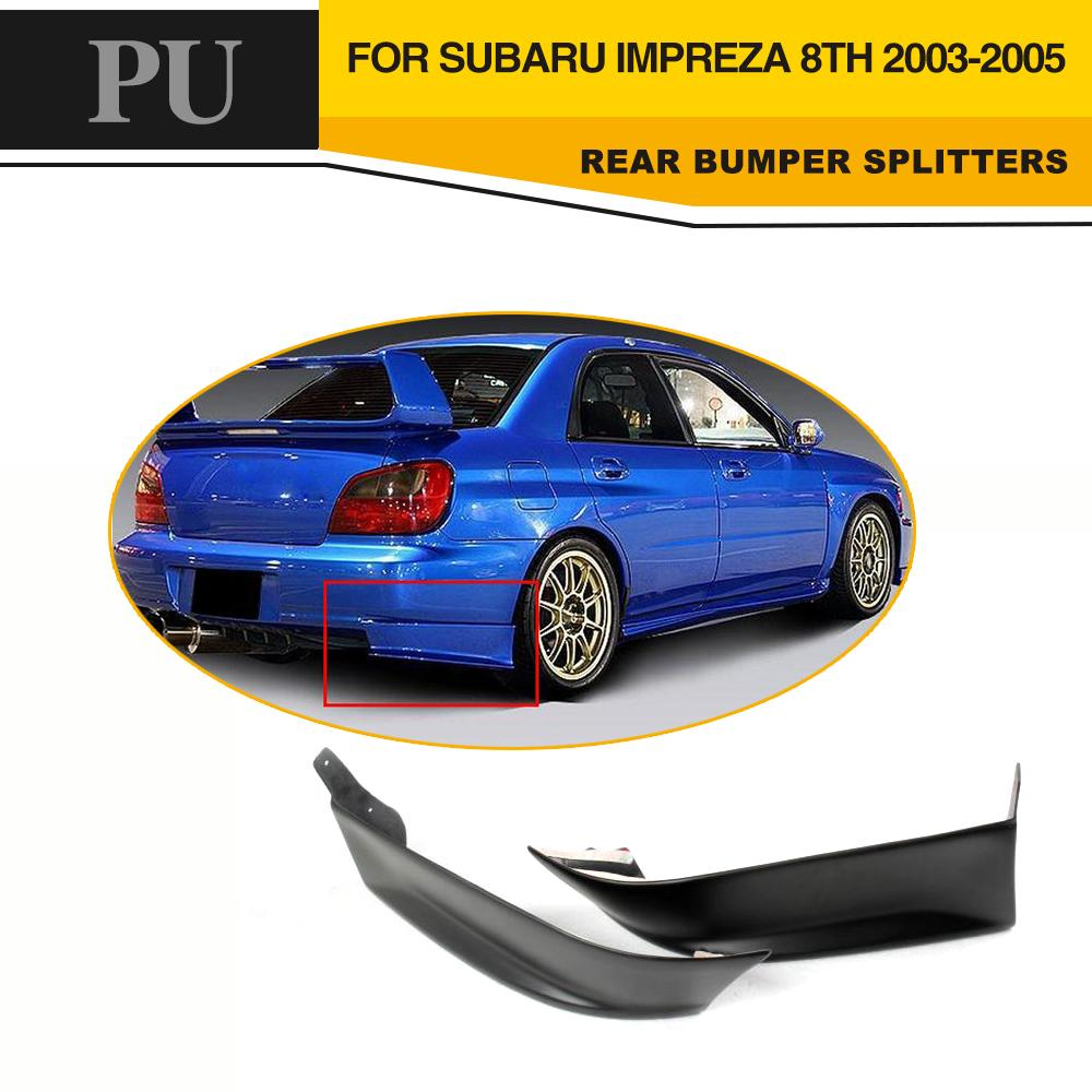 все цены на  PU Unpainted Black Primer Car Front Bumper Splitters Side Aprons For Subaru Impreza 8th 9th 2004-2005  онлайн
