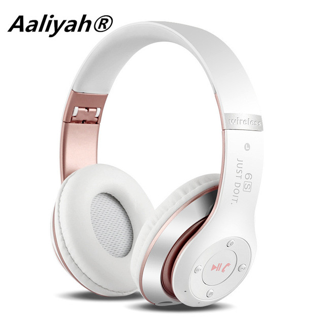 Aaliyah Wireless Headphones Stereo Bluetooth Headsets With Mic With FM Radio SD Card For iPhone Xiaomi Pc Laptops Girl Headphone