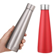 fashion cola sports Water Bottle milk coffee Thermos Cup Stainless Steel bowling Vacuum Flask Travel Creative Gifts Mug 450ml