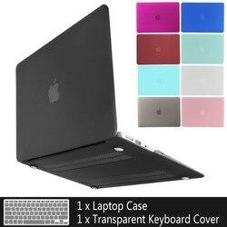 Новый чехол для ноутбука APPle MacBook Air Pro Retina 11 12 13 15 16 mac Book 15,4 13,3 дюйма с сенсорной панелью + чехол для клавиатуры