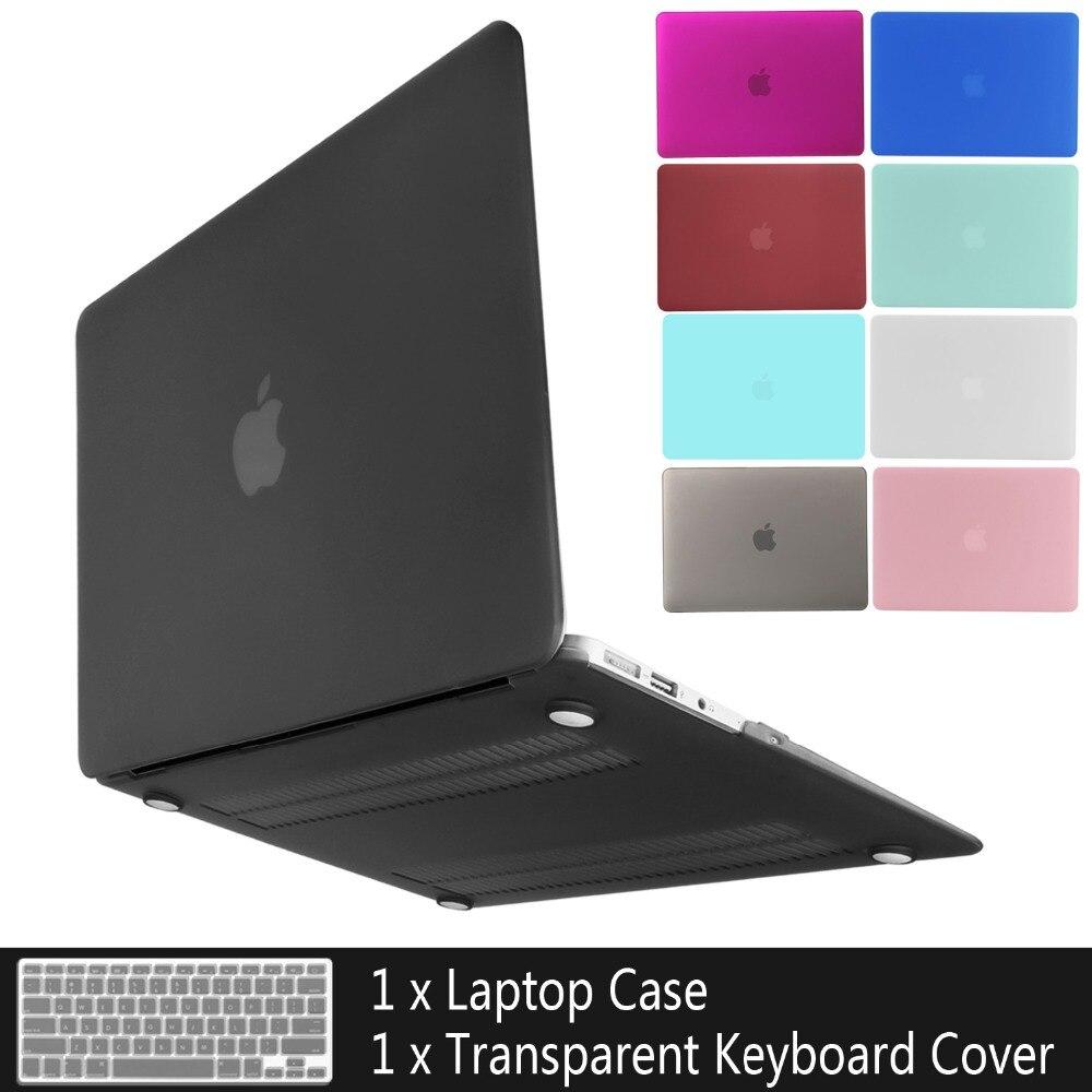 Novo Caso de laptop Para APPle MacBook Air Pro Retina 11 12 13 15 mac Livro 15.4 13.3 polegada com Toque bar Manga Shell + Tampa do Teclado