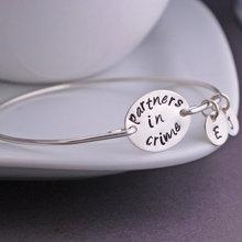 Partners in Crime Bracelet, Best Friend Jewelry, Most true friendships or my heart Bangle& Bracelet YPQ0527