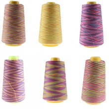 Cheap Multicolor Sewing Thread Spool 3000Y 40S/2 Polyester industrial Machine Suppiles