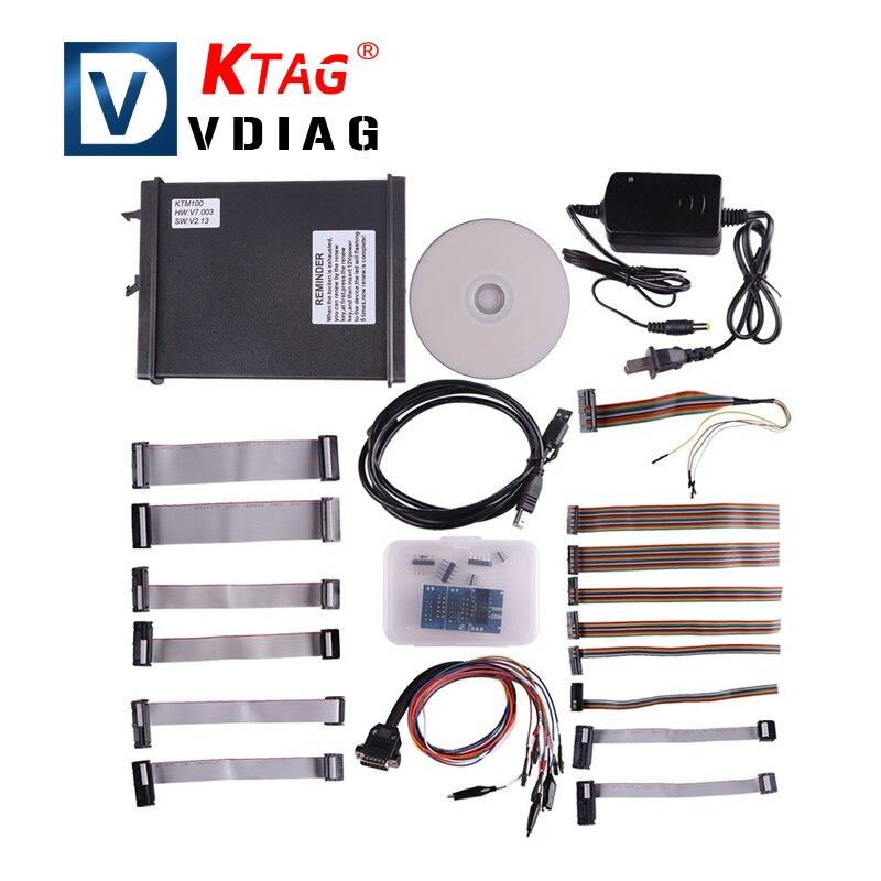 New Arrival V2 13 FW V7 003 KTM100 KTAG K TAG ECU Programming Tool Master Version