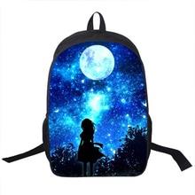 Galaxy/Univers/Licorne/Cheshire Chat École Sac À Dos pour Teeange Filles Sacs D'école Nuit Étoilée/Space Star cartables