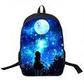 Galaxy/Universo/Unicórnio/Cheshire Gato Mochila Escolar para Sacos de Escola Meninas Estrelado Teeange Noite/Space Star mochilas