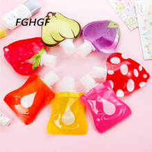 1PC/3PC/4PC Mini Fruit  Portable Travel Packing Bottle Press for Lotion Shampoo Bath Sample Containers Bottles