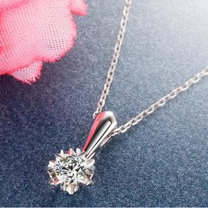 Image 4 - ファッション永遠に 1 石ペンダント純粋な 18 k 固体ホワイトゴールド結婚式の宝石認定 0.3 カラット