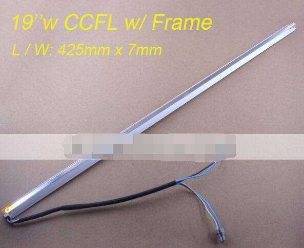 425mm * 7mm Ccfl Lâmpadas com Quadro/suporte de Montagem Dupla lâmpadas para 19 polegadas LCD wide Tela do monitor Do Painel de Montagem 2 pcs