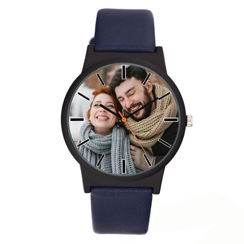 A3307 Lovers Watch DIY With Your Own Picture Custom Clock Dial Leather Sport Casual Fashion Fit For Men Women Creative Watch