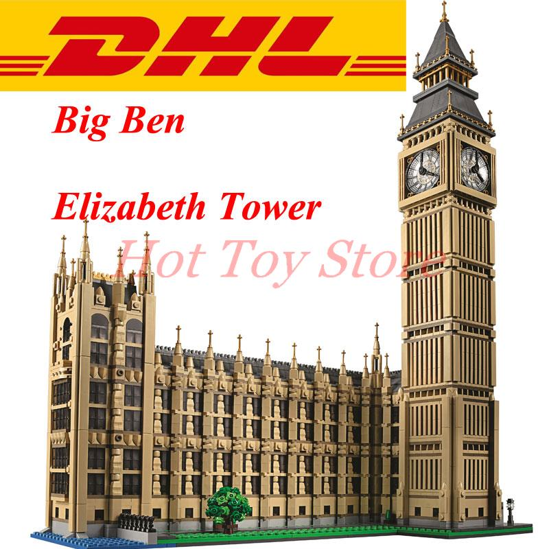 DHL LEPIN 17005 4163pcs Big Ben Elizabeth Tower Model Building Kits Minifigures Brick Toys Compatible With