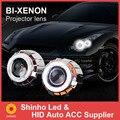 2X2.8 Polegadas DRL 6000 K Bi-Xenon Lente Do Projetor Do Farol com LED anel CCFL Angel Eyes Ajuste com luz Do Carro h1 h4 h7 fonte