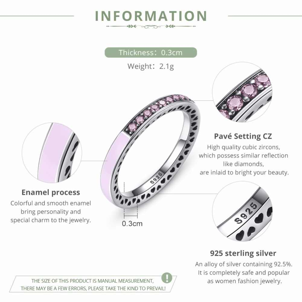 AliExpress ขายร้อน 925 เงินสเตอร์ลิง Radiant Hearts สีชมพูแหวนผู้หญิงหรูหราแบรนด์เดิมแหวน S925 เครื่องประดับ FB7603