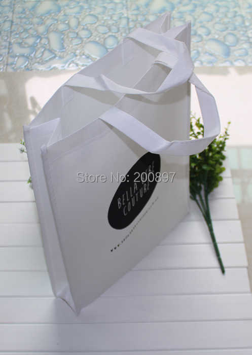 Custom logo non woven fabrics storage bag  80gsm fabric suitable for advertising W26*H32*D8cm 100pcs lot