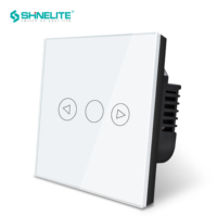 UK Touch light dimmer wall switch for broadlink, interruptor touch dimmer Led light switch White Crystal Glass 220V free ship