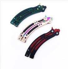 New CS GO knife Counter Strike claw Karambit Knife game folding Knife butterfly rainbow game knife dull blade no edge tool