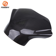 POSSBAY Motorcycle Gas Tank Protector Pad Cover Carbon Fiber For Yamaha YZF R6 2008 2009 2010 2011 2012 2013 2014 Cafe Racer цена 2017