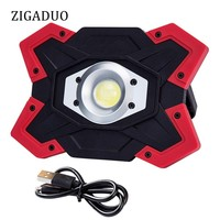 Camping Tent LED Work Light 1200 Lumens FloodLight Outdoor COB Lantern Searchlight Built in Rechargeable Batteries Lamp Portable
