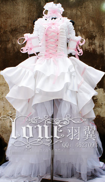 Anime! Puella Chobits Eruda Chi Pink White Wedding Dresses Cosplay Costume  For Women S XL can be customized Free Shipping on Aliexpress.com  597250a080ac