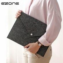 EZONE A4 Felt Business File Folder Document Bag Big Capacity File Bags Creative Business Briefcase Portfolio School Stationery недорого