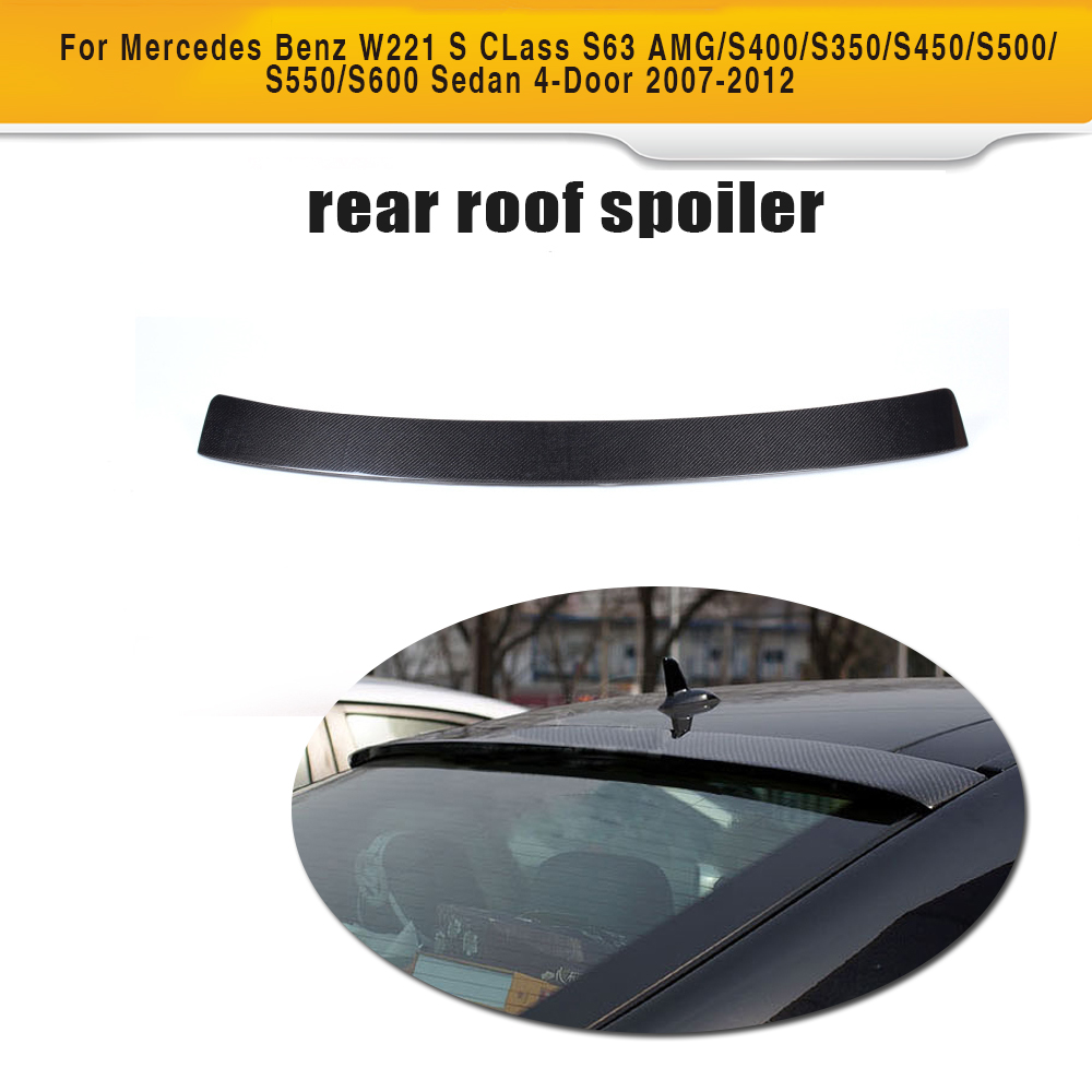S Class Carbon Fiber Rear Roof Spoiler window wing for Mercedes Benz W221 Sedan 4 Door 07-12 S63 AMG S350 S400 S450 S500 S550 mercedes carbon fiber trunk amg style spoiler fit for benz e class w207 2 door 2010 2015 coupe convertible vehicles
