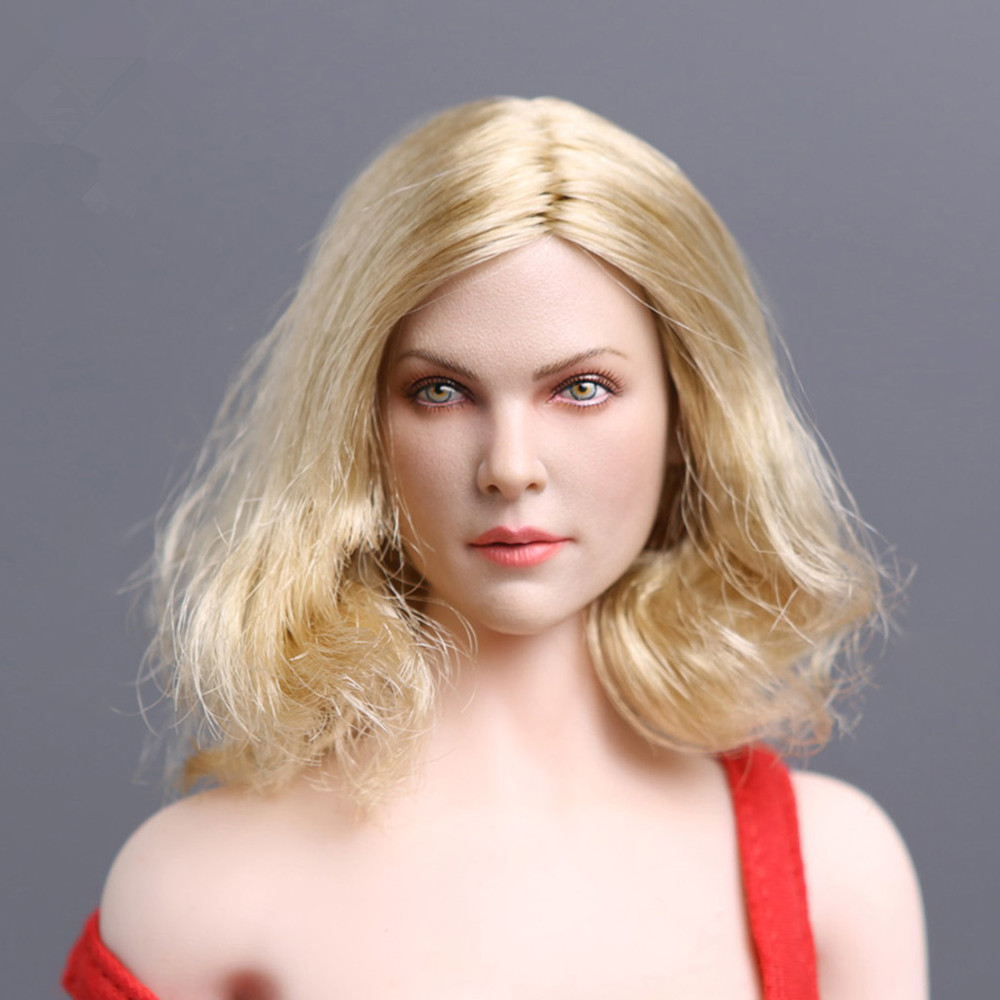 1/6 Scale European Famous Star Charlize Theron Head Sculpt With Short Blond Hair For 12''Female Bodies Accessories GACTOYS GC001