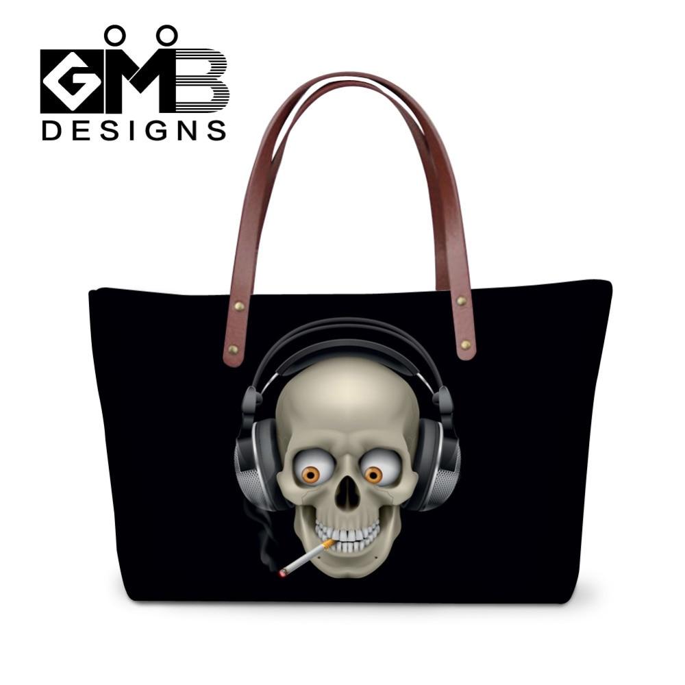f244f35e91c Women Handbags Cool Skull Printing Shoulder Bags Fashion Big Messenger Bags  Ladies Tote Bag Female Summer Beach Bag Bolsos Mujer-in Shoulder Bags from  ...