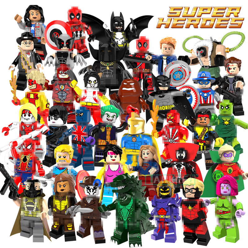 Building Block Doctor Fate Super Girl Joker Batman Jubilee Cowboys Flash Bane Miss America Kids Super Heroes Toys Bricks Figures the biomaterials silver jubilee compendium