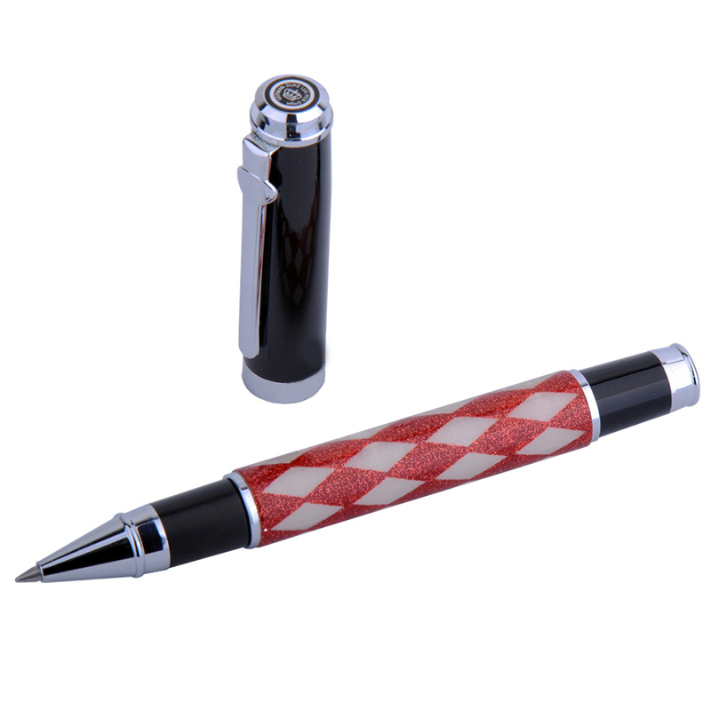 Red-white Grid Rollerball Pen Germany Duke Black Ink Medium Refill Writing Signature Business Office and School Ballpoint Pens red white grid rollerball pen germany duke black ink medium refill writing signature business office and school ballpoint pens