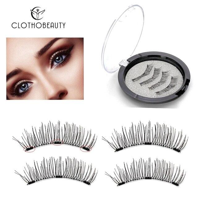 f7c002d7506 3 Magnets 3D Magnetic Eyelashes Magnet Lashes Reusable False Eyelashes  Handmade No Glue Fake Lashes Extension 4pcs/set(BK503-3)