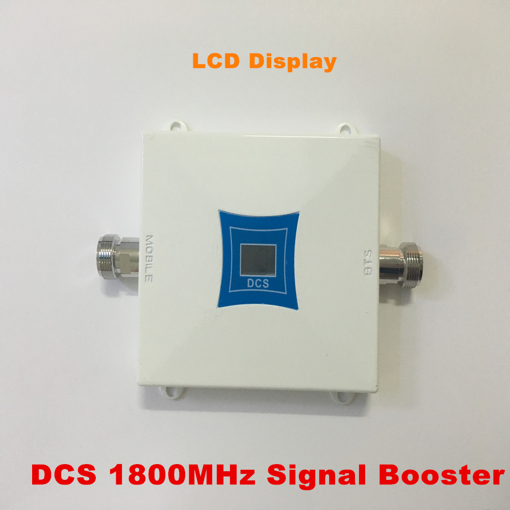 Mini 65dB LCD 2G 4G LTE GSM DCS 1800MHz Cell Phone Mobile Phone Repeater Signal Booster / Repeater / Amplifier + Power Charger