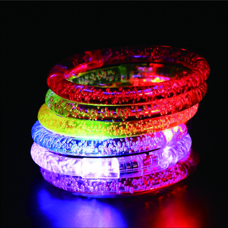 12pcsParty Led Bracelet Colorful changing LED Ankle bracelet  Light up Bracelet flashing acrylic glowing bracelet birthday Part (3)