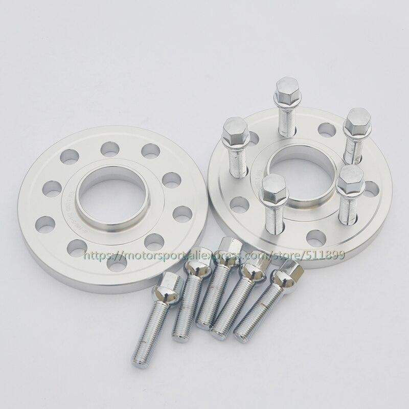 4 Pc Audi 5x112 12 /& 20 MM Hub Centric Wheel Spacers W// Black 14x1.5 Lug Bolts