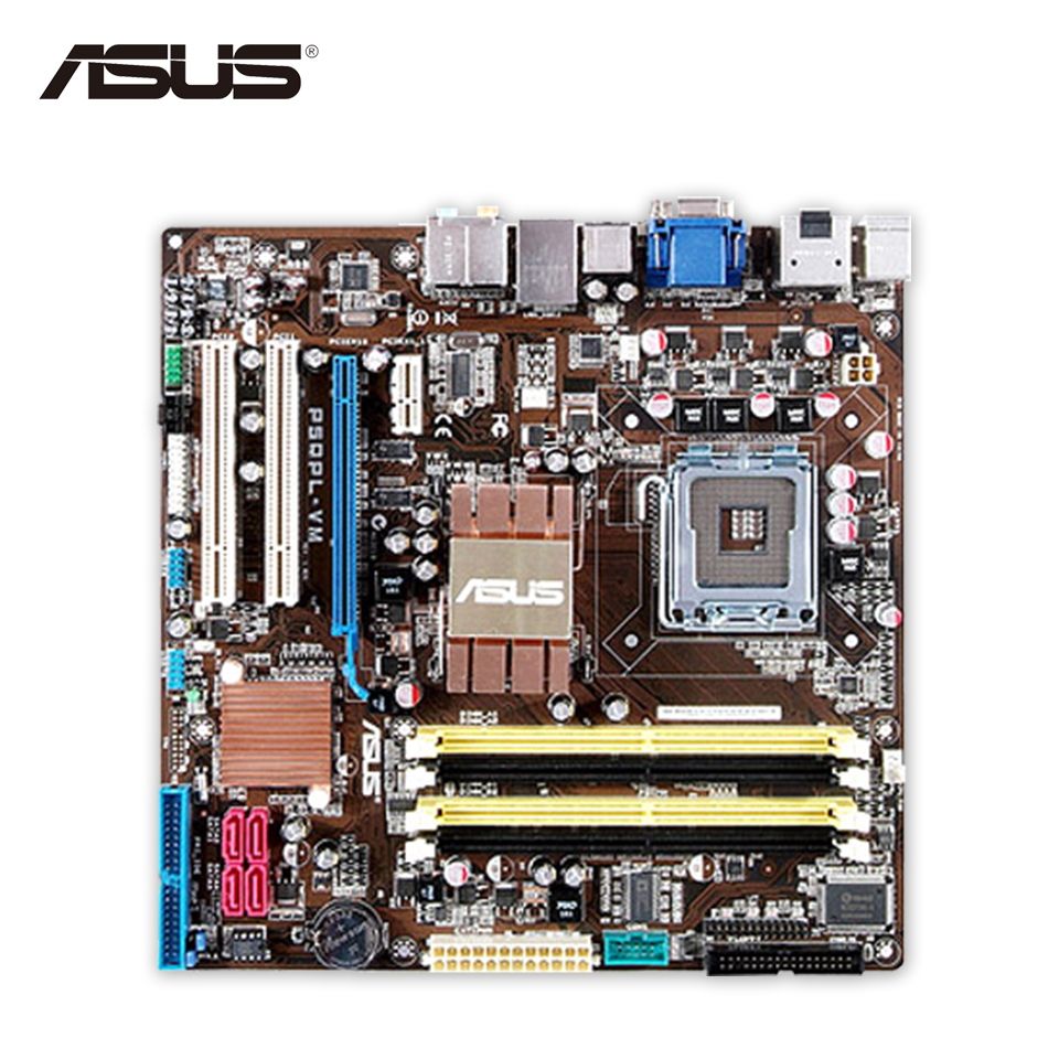 Asus P5QPL-VM Desktop Motherboard G41 Socket LGA 775 DDR2 8G SATA2 USB2.0 uATX Second-hand High Quality asus p5g41 m le original used desktop motherboard g41 socket lga 775 ddr2 8g sata2 usb2 0 uatx