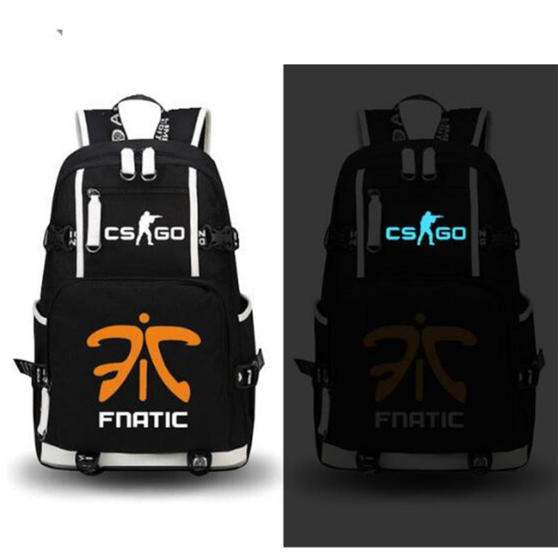 134266e3cc23 ... Fnatic Virtus.pro SK Luminous Backpack Rucksack Book bag Casual Laptop Student  Schoolbag Bag School Boys Girls Travel on Aliexpress.com