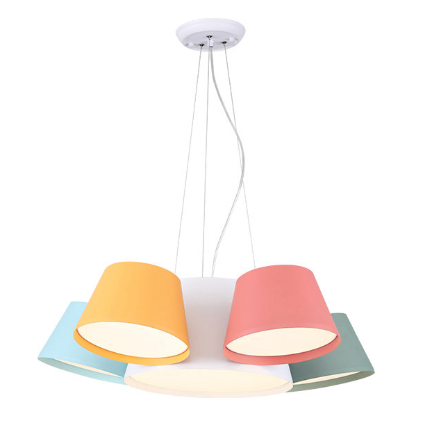 Nordic post modern Foyer pendant lights modern simple style creative personality Macaron colorful Kids room bedroom