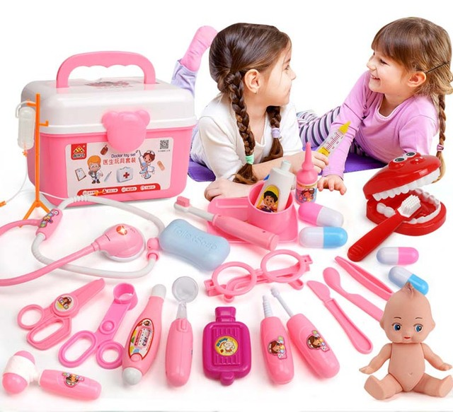 Aliexpress Com Buy Kids Toys Doctor Set Baby Suitcases Medical Kit