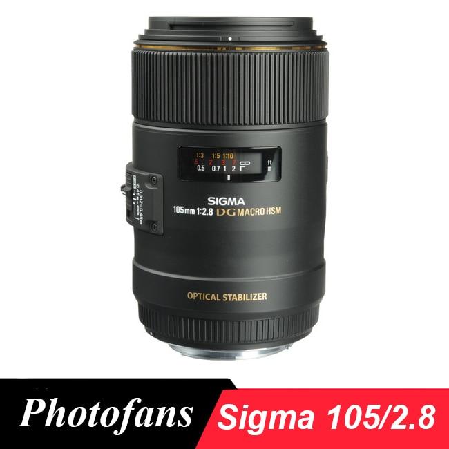 Sigma 105mm f/2.8 EX DG OS HSM Macro Lens new sigma sports 120 300mm f 2 8 dg os hsm lens for nikon