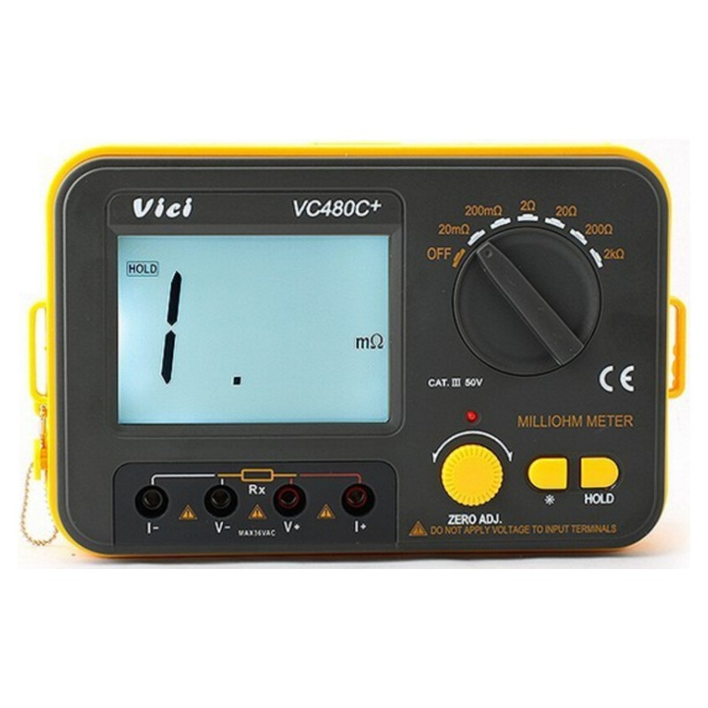 4 Wire Ohmmeter : Vc c digital milli ohm meter multimeter with