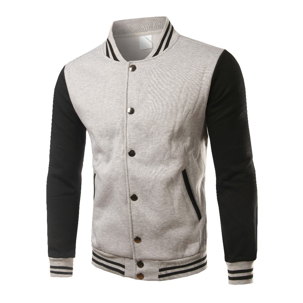 Image 4 - Brand White Varsity Baseball Jacket Men/Women 2016 Fashion Slim Fit Fleece Cotton College Jackets For Fall Bomber Veste Homme-in Jackets from Men's Clothing